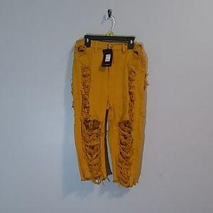 Fashion Nova yellow shorts